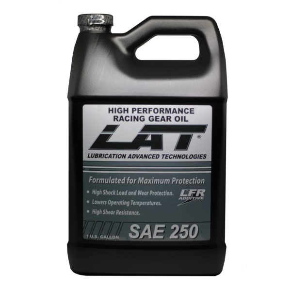 LAT Racing Oils SAE250 High Performance Transmission Gear Oil With LFR Additive 1 Gallon Bottle
